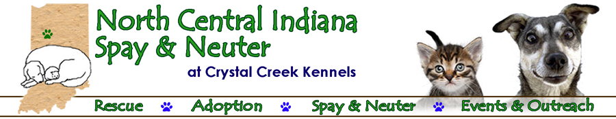 North Central Indiana Spay & Neuter at Crystal Creek Kennels